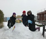 Dorothy House nurses build a spanish-themed snowman to cheer up patient, Matt Chandler March 2018