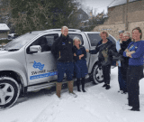 SW-Hire helps transport Dorothy House IPU nurses and Hospice at Home carers through the snow in March 2018