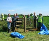 New gate near Ashley Road, with Ramblers Workiing Party - Photography - Brian Micklam