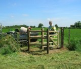 New gate near Ashley Road - Photography - Brian Micklam