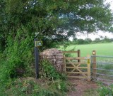 New gate near Parsonage Farm on road from Church Farm - Photography - Brian Micklam