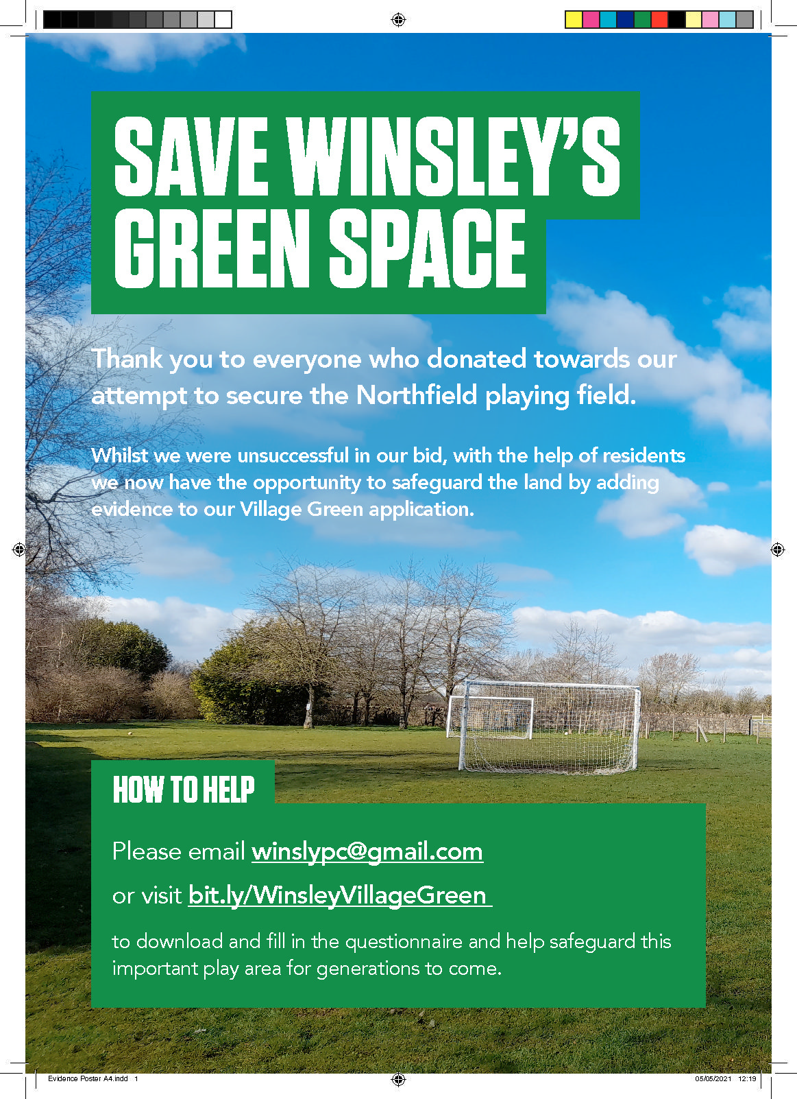 If you've ever used Northfield playing field, please complete our Evidence Questionnaire to […]